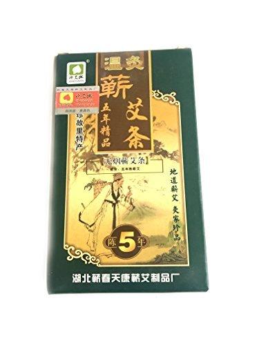 (Original Shizhen Li Smokeless Moxa Rolls, Joss Sticks 10)