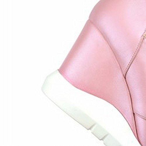 MissSaSa Alto col Tacco ons Donna Scarpe Slip Rosa Elegante rwqIrECx