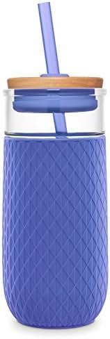 Ello Devon 20OZ Glass Tumbler Straw