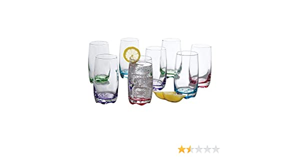 NEW 8pc Acrylic Colourful Drinkware Set Plastic Tumblers Housewarming Gift Idea!