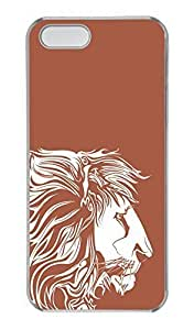 iPhone 5/5s Case, Personalized Protective Lion2 Case for iPhone 5/5S PC Clear Phone Cover