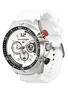 Freestyle FS81323 - Reloj analógico de cuarzo para hombre con correa de acero inoxidable, color blanco