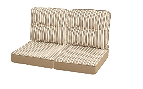 Quality Outdoor Living 29-BS04LV Loveseat Cushion, 46