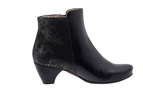 Calzado mujer confort de piel Piesanto 5880 botín zapato casual cómodo ancho Negro