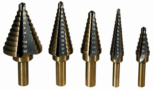 ATD Tools 9200 Step Drill Bit Set - 5 Piece by ATD Tools