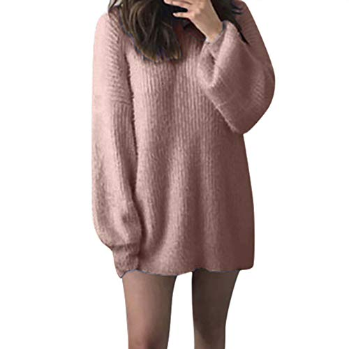 Charles Satin Heels - Caopixx Women Sweater Winter Warm O-Neck Knitted Sweaters Loose Casual Long Latern Sleeve Sweatshirt Blouse