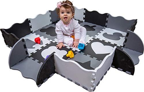 Wee Giggles Non-Toxic Foam Baby Play Mat for Tummy Time, Sitting and Crawling
