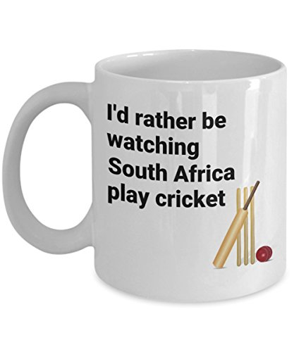 South Africa Cricket Mug - South African Cricket Team Supporter - I'd Rather be Watching Play Cricket Cricketer Sport Coffee Cup Fan (Best South African Cricketers)