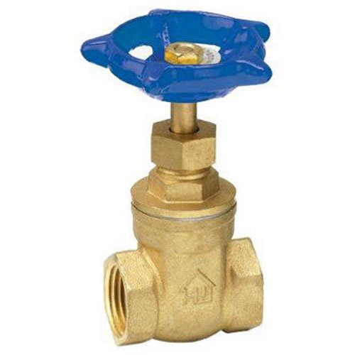 Homewerks 170-2-12-12 No-Lead Gate Valve, Female Thread x Female Thread, Brass, 1/2-Inch