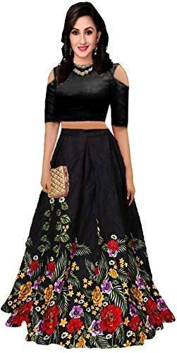skyworld fashion Women\u0027s bangalori satin Long Skirt Gown And Top 2019