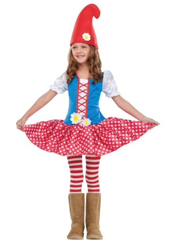 Toddler Gnome - Toddler Gnome Girl Costume Large (3T - 4T)
