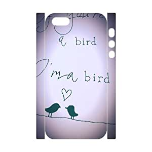 Bird Custom 3D Cover Case for Iphone 5,5S,diy phone case ygtg567630