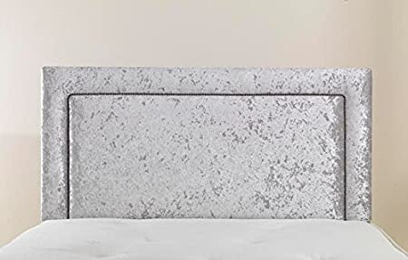 mm08enn Luxury Design Studded Crushed Velvet Headboard in 3FT,4FT,4FT6,5FT,6FT 3ft Single 26 Height, Black