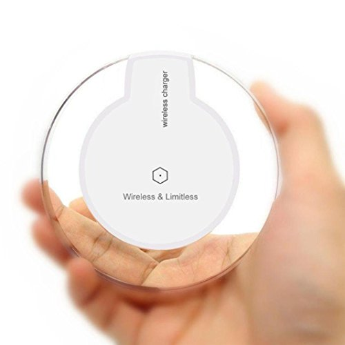 For Samsung Galaxy S9/S9 Plus, Tuscom Clear Qi Wireless Charger Charging Pad,for iPhone 8/iPhone 8 Plus (White)
