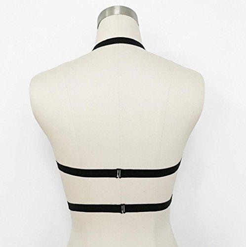 Sannysis Sujetador deportivo, Mujer Sujetadores de cinturón color negro