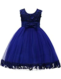 2-10T Big Little Girl Ball Gown Short Lace Flower Tulle Prom Dresses for Wedding