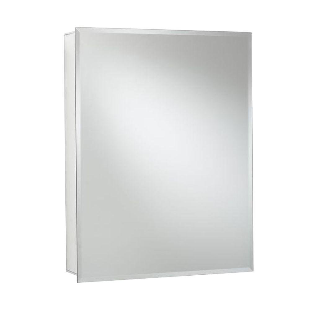 Croydex Haven 30-Inch x 24-Inch Recessed or Surface Mount Medicine Cabinet with Hang 'N' Lock Fitting System, Aluminum by Croydex