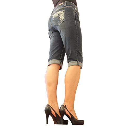 Earl Jean Women Capri and Emb Back Pocket Epm113