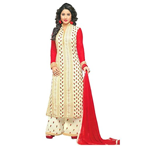 Bollywood Wedding Embroidered Ready made Salwar Kameez Indian – 0X, White