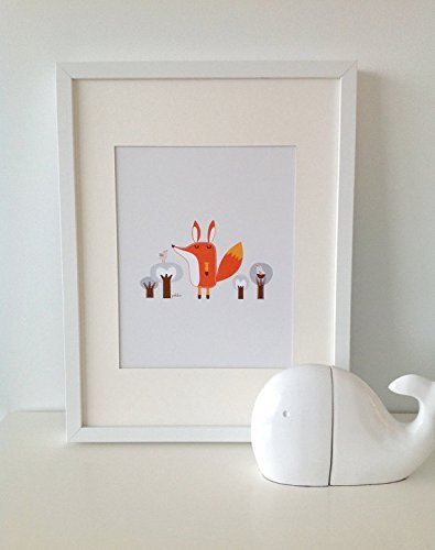 Paolo The Fox 2 // FOX Print // Fox Wall Art // Woodland Baby Nursery Decor