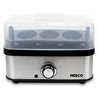 NESCO EC-10, Egg Cooker, Stainless Steel/Black, 400 watts