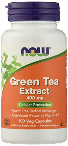 NOW FOODS Green Tea Extract 400mg 60% Capsules, 100 Count