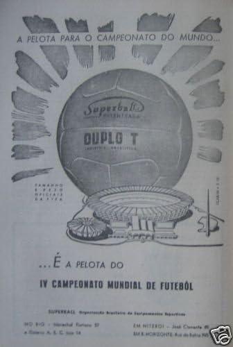 Balon Oficial Futbol del Mundial DE Brasil 1950. Modelo Super ...