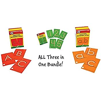 Tactile Sandpaper Complete Bundle (Lowercase Letters, Uppercase Letters and Numerals) by Didax