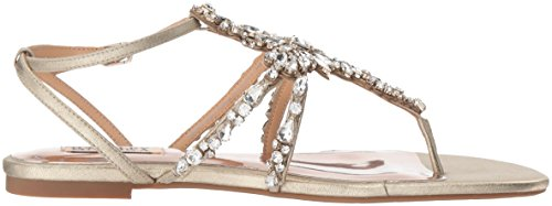 Badgley Mischka Womens Hampden Flat Sandal Platino