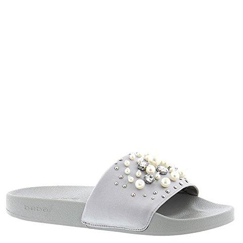 bebe Fenix Grey Slide Sandal Women's YpwCU8qxwS
