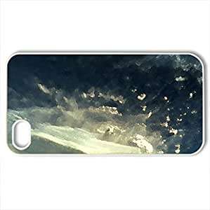 volcano eruption in chile - Case Cover for iPhone 4 and 4s (Forces of Nature Series, Watercolor style, White)