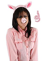 Elope Pig Ears Costume Headband with Pig Nose and Tail