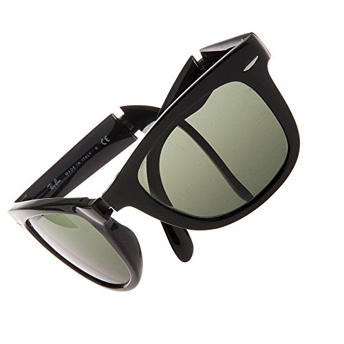 Ray-Ban RB4105 - 601 Folding Wayfarer Sunglasses, Black, - Rb4105 Ban Ray 601