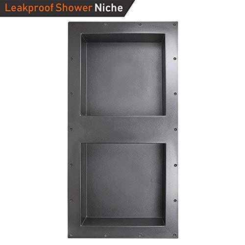 "Shower Niche 32"" x 16"" Double Shelf Shower Cube Ready for Tile Waterproof Leak-proof Bathroom Indoor Recessed Niche Storage Washing Toiletries Bottles"