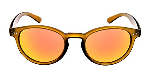 Optic Nerve Oscar Derento Polarized Trend Sunglasses - Matte Amber Frame with Polarized Grey - Glasses Frames Oscar