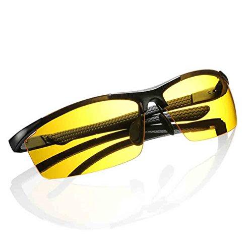 Ultralight Lunettes Hommes Cadre Soleil Vision Night Unisexe Goggles Aluminium Magnésium Noir Conduite HONEY Nuit Lunettes de FPXqw