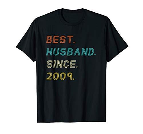 Mens 10th Wedding Anniversary Gifts Best Husband Since 2009 Shirt (Best 10th Anniversary Gifts For Him)