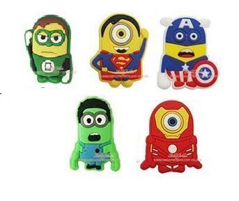 675c36657 Image Unavailable. Image not available for. Color  CharmTM Superhero Set of 5  PVC Shoe Charms (Generic) for Crocs Natives Minions Party