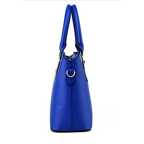 las Monedero de Baymate Mujer de Mano Hobo Azul Moda Bolsa de Bolso y Cielo Cuero y qntwxwUapY