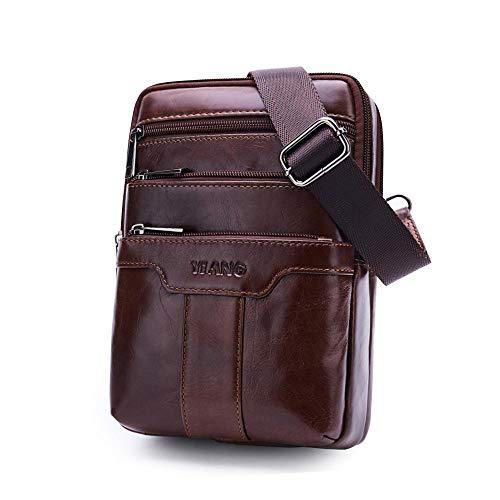 FOONEE - Bolso bandolera para hombre, bolso bandolera de piel para el hombro, bolso bandolera para el aire última...