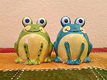 TerraRoad 3-D Frog Sale & Pepper Shaker Sets (Frog Salt And Pepper Shakers)