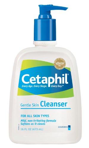 Nettoyant doux pour la peau Cetaphil, pour tous les types de peau, de 16 onces (Bouteilles Pack de 2)