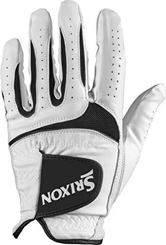 Srixon Tech Cabretta Golf Glove, Worn on Left Hand, S, White, Small
