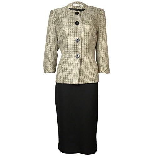 Nice Evan Picone Womens Tweed Woven Blazer Skirt Suit hot sale