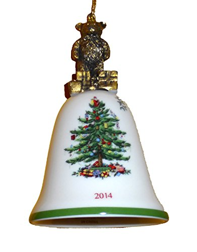 Spode Christmas Tree 2014 Annual Teddy Bear Bell Ornament by Spode (Image #2)