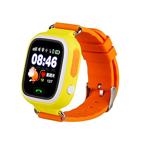 Smart Watch for Kids - Smart Watches for Boys Smartwatch GPS Tracker Watch Wrist Android Mobile Camera Cell Phone Best Gift for Girls Children boy Pink Blue Yellow Blue Black (Orange)