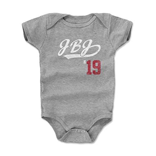 500 LEVEL Boston Baseball Baby Clothes, Onesie, Creeper, Bodysuit - 6-12 Months Heather Gray - Jackie Bradley Jr. JBJ Players Weekend Script R WHT