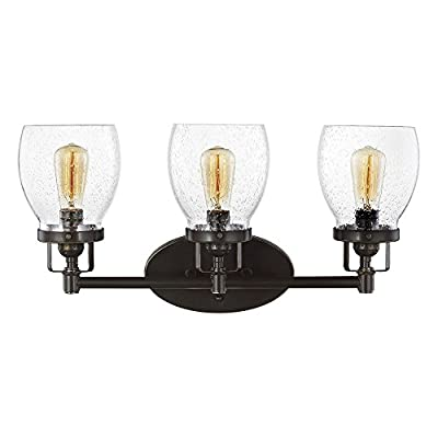 Sea Gull Lighting Belton with Clear Seeded Glass Shades
