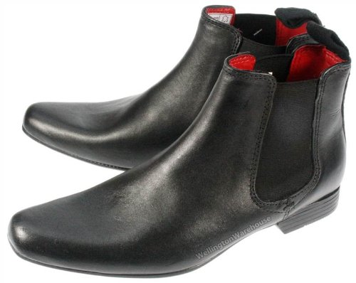 Red Tape Garforth Bottines en cuir Bout pointu Enfant - Noir - noir, 35.5 (3 UK)