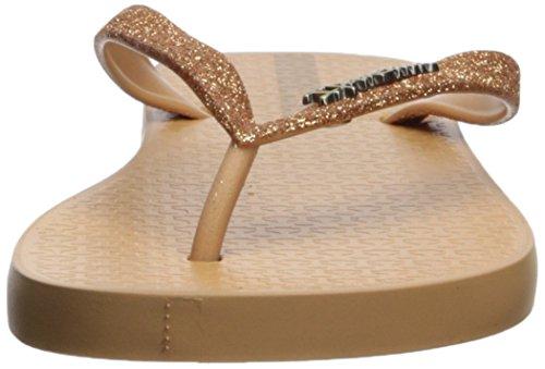 Women's M Glitter Flip Gold Flop Beige B US II 11 Ipanema Hadqa